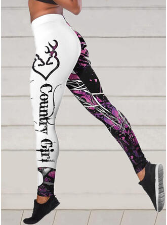 Print Shirred Sexy Sporty Yoga Leggings