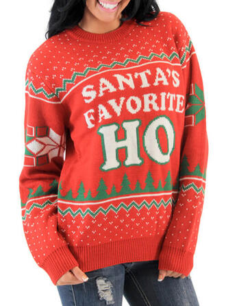 Polyester Letter Ugly Christmas Sweater