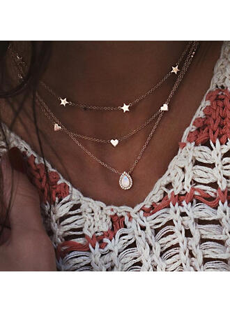 Hottest Layered Alloy With Star Heart Necklaces (Set of 3)