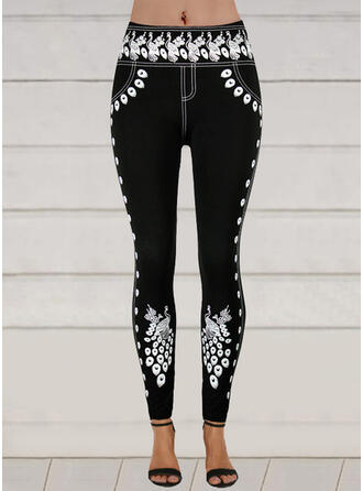 Print Plus Size Sexy Skinny Pants Leggings
