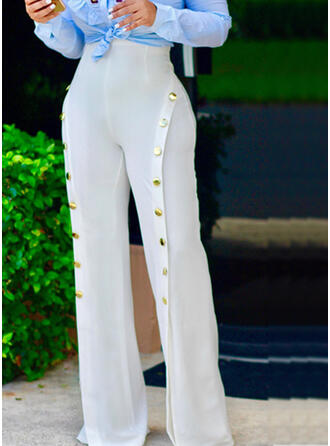 Solid Patchwork Long Elegant Sexy Pants