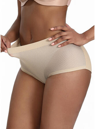 Nylon Chinlon Plain Patchwork Mesh Shapewear