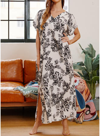 Leaves V-Neck Vintage Cute Plus Size Cover-ups Swimsuits