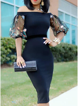 Lace/Floral 1/2 Sleeves/Lantern Sleeve Bodycon Casual/Party Midi Dresses