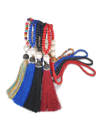 Hottest Fancy Beads With Tassels Necklaces Beach Jewelry