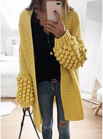 Solid Casual Long Sweater Dress