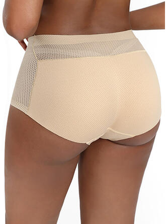 Plain Mesh Brief Panty