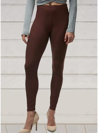 Solid Plus Size Long Elegant Sexy Yoga Leggings