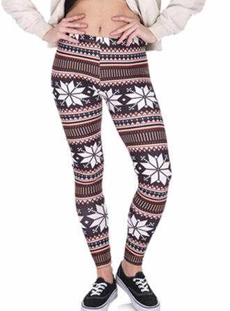Geometric Print Long Skinny Yoga Leggings
