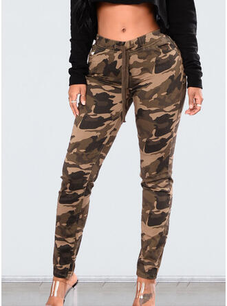 Camouflage Drawstring Long Casual Sporty Pants