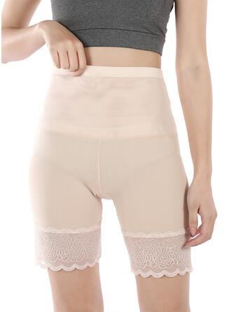 Nylon Chinlon Lace Plain Patchwork Jacquard Shapewear