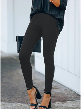 Solid Plus Size Long Elegant Sexy Pants