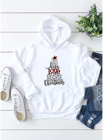 Print Long Sleeves Christmas Sweatshirt