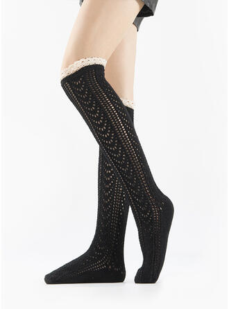 Striped/Solid Color Warm/Breathable/Comfortable/Knee-High Socks Socks/Stockings
