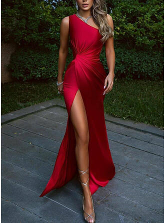 Solid Sleeveless A-line Skater Party Maxi Dresses