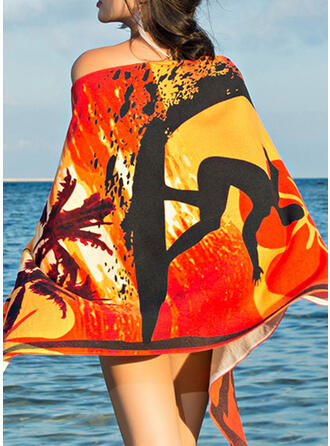Color Block/Bohemia/Colorful Light Weight/Multi-functional/Sand Free/Quick Dry Beach Towel