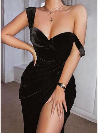 Solid Sleeveless Sheath Knee Length Little Black/Sexy/Party Dresses