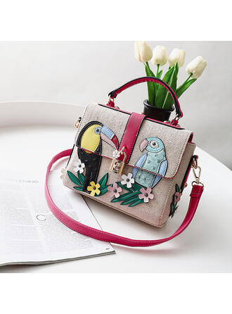 Fashionable/Commuting/Splice Color/Floral/Braided Satchel/Tote Bags/Shoulder Bags/Beach Bags/Hobo Bags