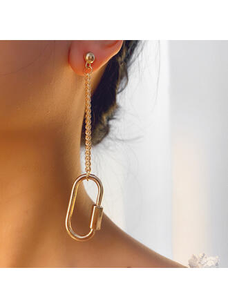 Fashionable Vintage Alloy With Gold Plated Women's Ladies' Earrings 2 PCS