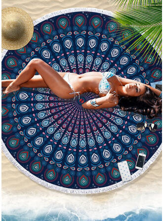 Floral/Retro/Vintage/Tassel/Bohemia/Geometric/Colorful round/Multi-functional/Sand Free/Quick Dry Beach Towel