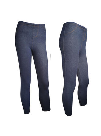 Solid Shirred Plus Size Sexy Skinny Pants Leggings