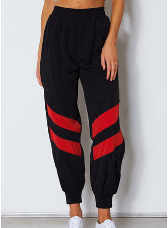 Shirred Long Casual Sporty Pants